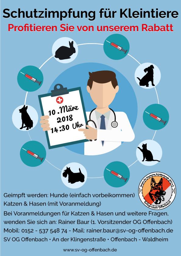 Schutzimpfung für Kleintiere